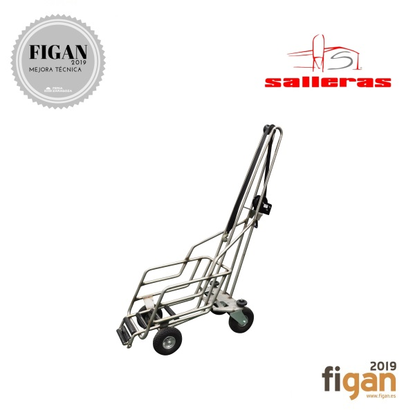 ERGONOMIC STAINLESS STEEL CART FOR REMOVAL OF DEAD ANIMALS