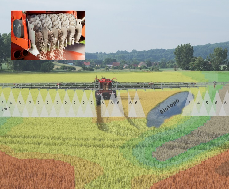 MultiRate small-scale metering and distribution system for pneumatic fertilizer spreaders