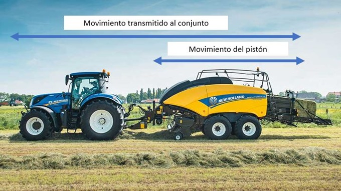 Big baler control system for damping longitudinal vibrations with T7 tractors